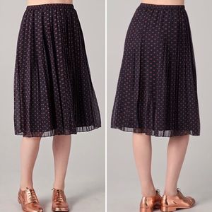 Madewell Judy Polka Dot Pleated Chiffon Skirt